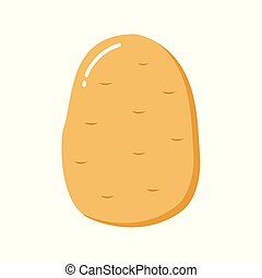 potato flat. Vector illustration of potatoes for soup.