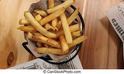Potato Fries And Ketchup