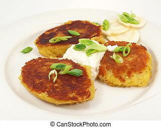 potato fritters - potatoes-buffer