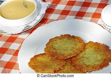 Potato Fritters - Potoato Fritters (Kartoffelpuffer) is a ...