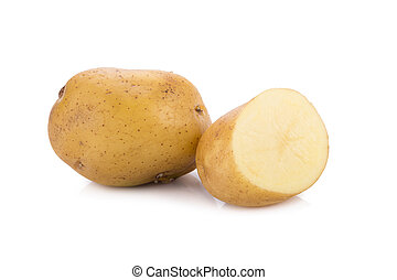 Potato isolated on white background.