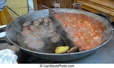 potato meat skew bake pan