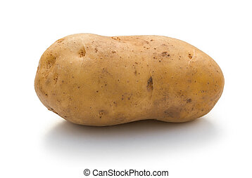 potato on white with clipping path