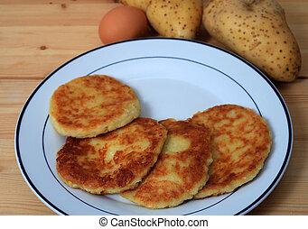 potato pancakes horizontal