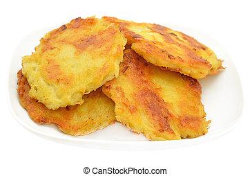 Potato pancakes on a plate