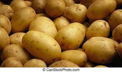 Potato Pile Moving Shot