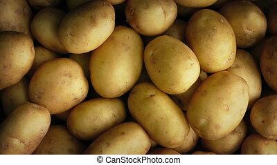 Potato Pile Rotating - Overhead shot of potatoes in pile...