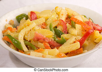 Potato Salad - Lightly grilled potato salad with tomatoes, ...