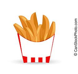 potato wedges illustration design isolated