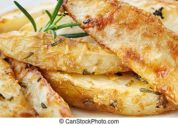 Potato Wedges with Parmesan and Herbs