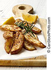 Potato Wedges with Rosemary and Lemon