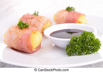 potato wrapped in bacon