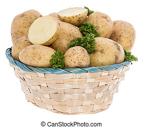 Potatoes and Parsley in a basket