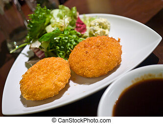 Potatoes Croquette - Mashed potatoes breadcrumbed fried ...