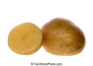 Isolated image of potatoes.