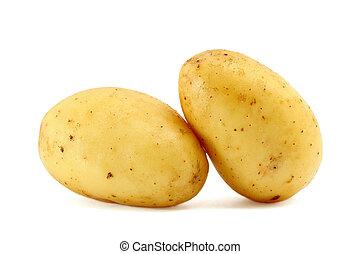Potatoes isolated on white background