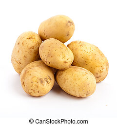 potatoes isolated