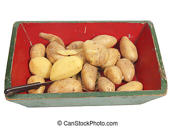 Potatoes peeling
