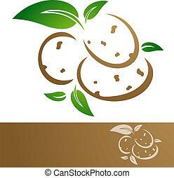 Potatoes - Potato Illustration Over White Background