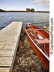 Potawatomi State Park Boat rental canoe dock Wisconsin...
