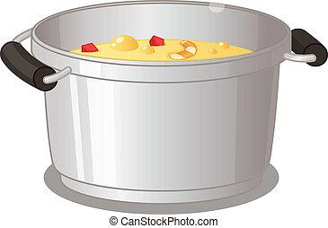 pote, de, sopa