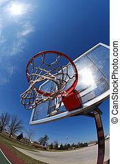 poteau, basket-ball