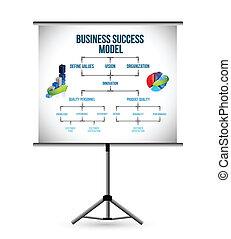 poteau, business, modèle, présentation