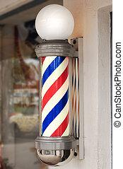 poteau, coiffeur