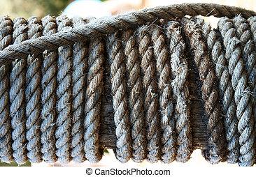 poteau, corde