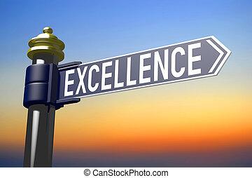 poteau indicateur, excellence