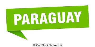 poteau indicateur, paraguay, vert, sticker., signe, ...