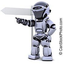 poteau indicateur, robot