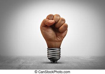 potencia, de, idea