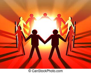 potencia, de, trabajo en equipo