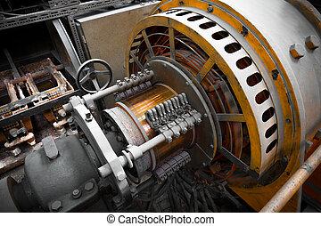 potencia, eléctrico, generador