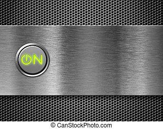 potencia, en, botón
