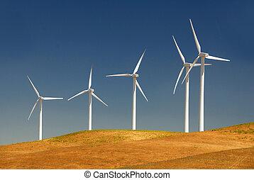 potencia, generar, molinos de viento
