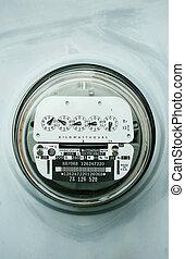 potencia, hogar, eléctrico, metro