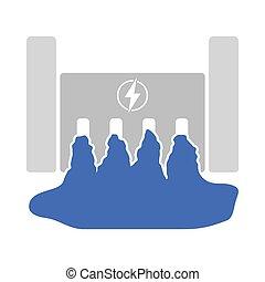potencia, icono, estación, hydro