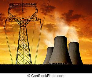 potencia, planta nuclear