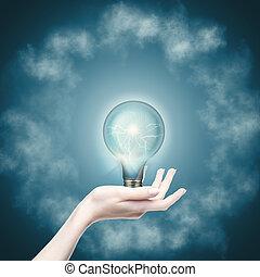 potencia, resumen, fondos, energy., puro, tecnología