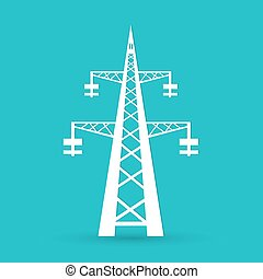 potencia, torre transmisión