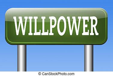 potencia, voluntad