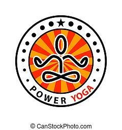 potencia, yoga, -, meditación