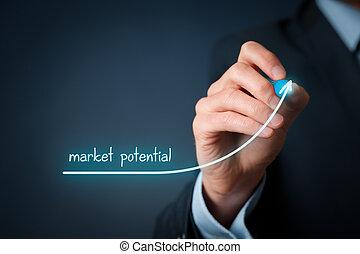 potencial, aumentar, mercado