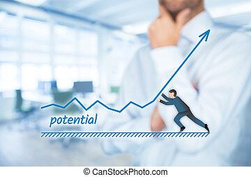 potencial, aumentar