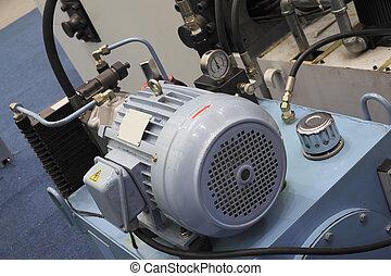 potente, elettrico, motori, per, moderno, apparecchiatura industriale