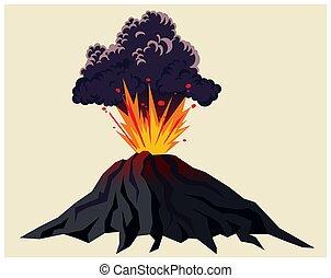 potente, eruzione vulcanica