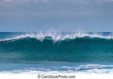 potente, onde oceano