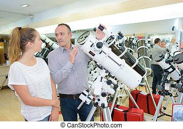 potente, telescopio